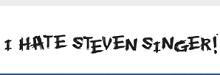 I Hate Steven Singer Coupon Codes June 2021